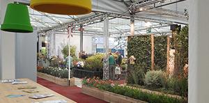 Zulieferer auf dem Züchterplatz Plantarium 2017 im rechten Licht